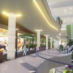 Vista de terrazas internas para restaurantes en primer nivel