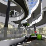 Vista conceptual del track y playground