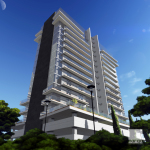 Edificio residencial 15 niveles, 4 departamentos por nivel