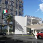 Incluye pad para hotel 7 niveles, las fachadas exteriores conservan el criterio actual.