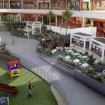 Vista desde segundo nivel de centro comercial