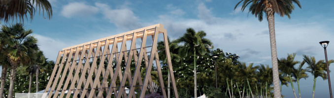 Proyecto conceptual amenidades en Sisal, Yucatán